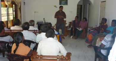 Meeting and discussion with farmers regarding proposed sugarcane project