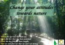 Change your attitudes towards nature