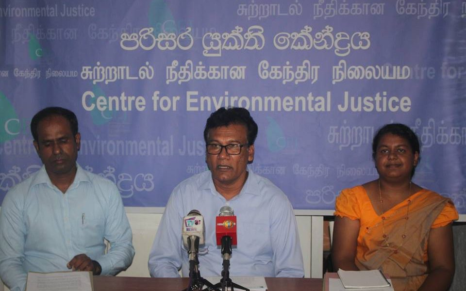 The press conference held by CEJ – International Lead poisoning prevention